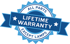 Lifetime Warranty = All Parts Except Lamps